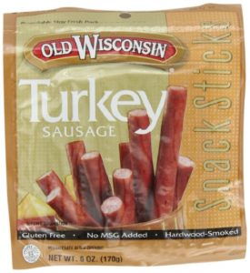Old Wisconsin Snack Sticks, Turkey, 6-Ounce Package