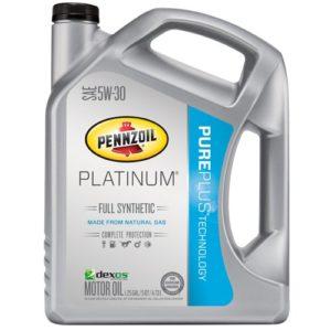 Pennzoil 550038221 Platinum 5W-30 Full Synthetic Motor Oil API GF-5- 5 Quart Jug