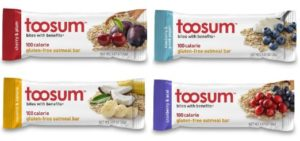 Toosum 100-Calorie Gluten-Free Oatmeal Bars, Variety Pack, 20 Count