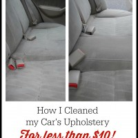How I Cleaned My Car's Upholstery for Less than $10