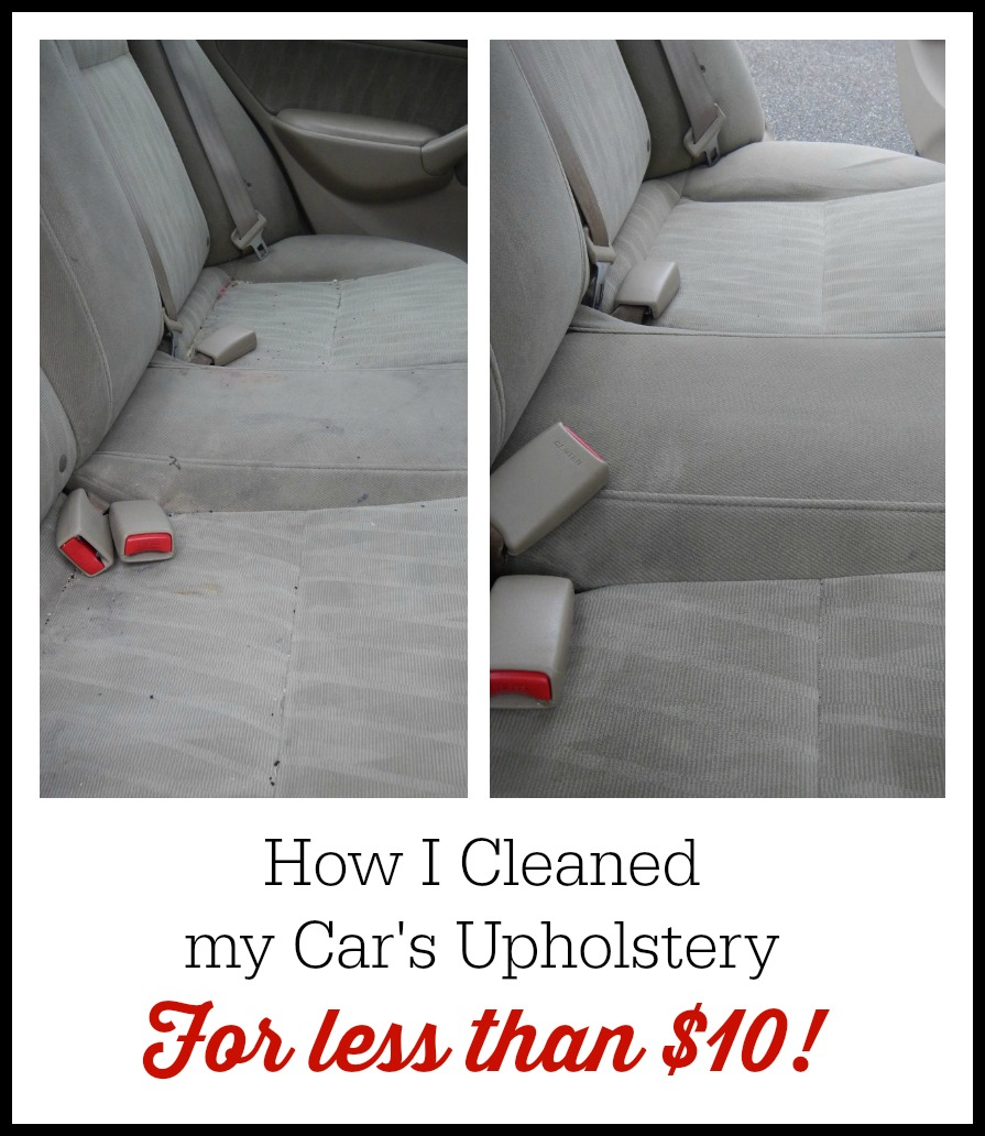 How I cleaned up car's upholstery for less than $10 - Shopping the Dollar Store