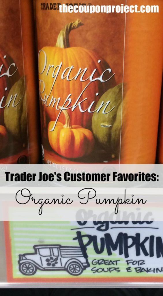 trader joe's organic pumpkin