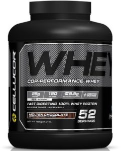 Cellucor Cor-Performance 100 Whey Protein Powder with Whey Isolate, Molten Chocolate G4, 4.01 Pound