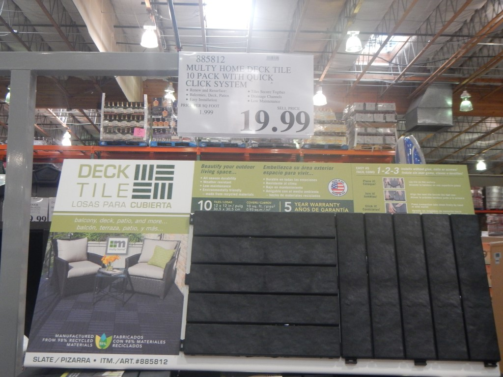 stuff i didn t know i needed until i went to costco feb 16 edition home deck tile at costco