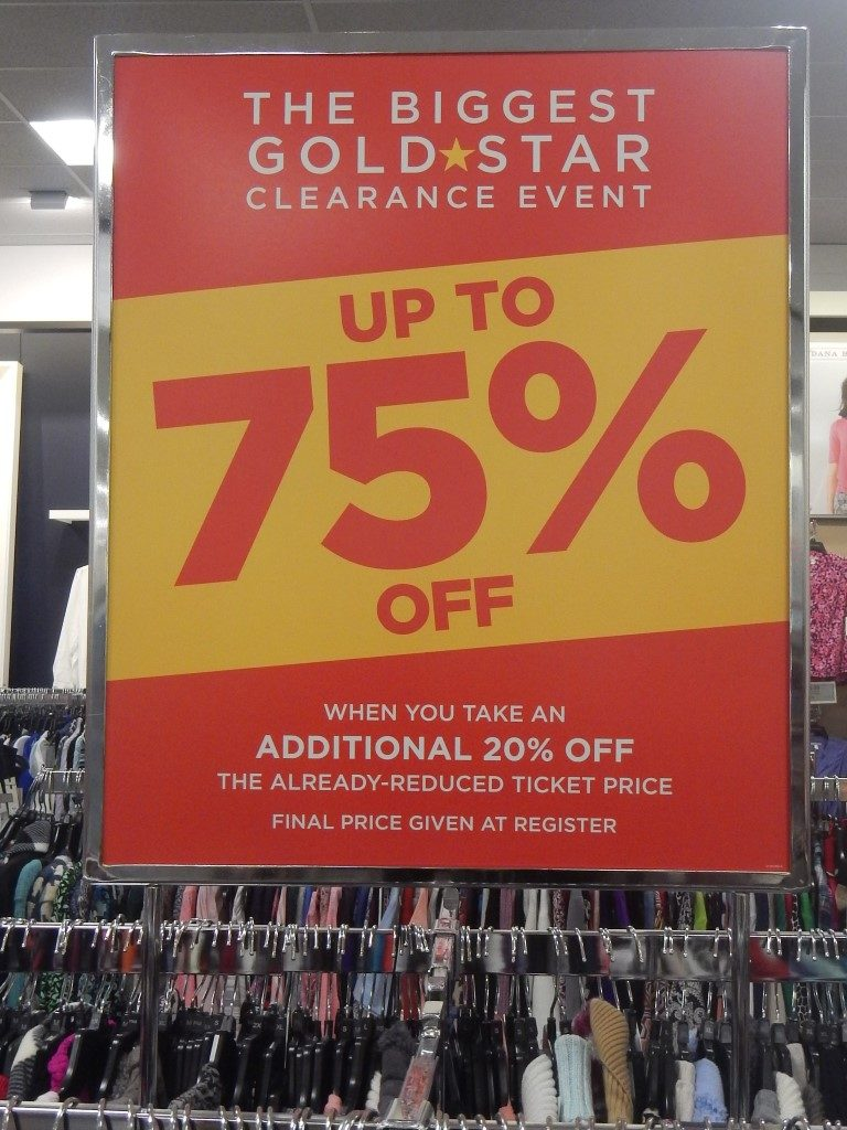 Goldstar Clearance Sale at Kohl's