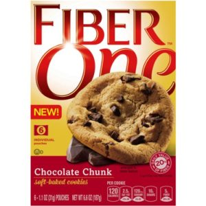 Fiber One Snacks Soft Baked Cookies, Chocolate Chunk, 6.6 Ounce