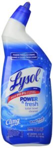 Lysol Toilet Bowl Cleaner, Cling Gel, Ocean Fresh Scent, 24 Ounce (Pack of 4)