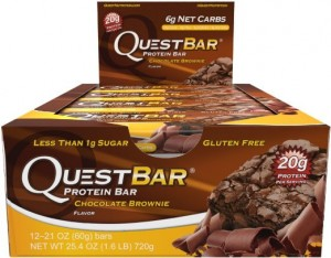 Quest Nutrition Protein Bar, Chocolate Brownie, 20g Protein, 2.1oz Bar, 12 Count