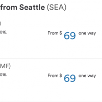 Alaska Air: Flights from Seattle Starting at $69 (one way)