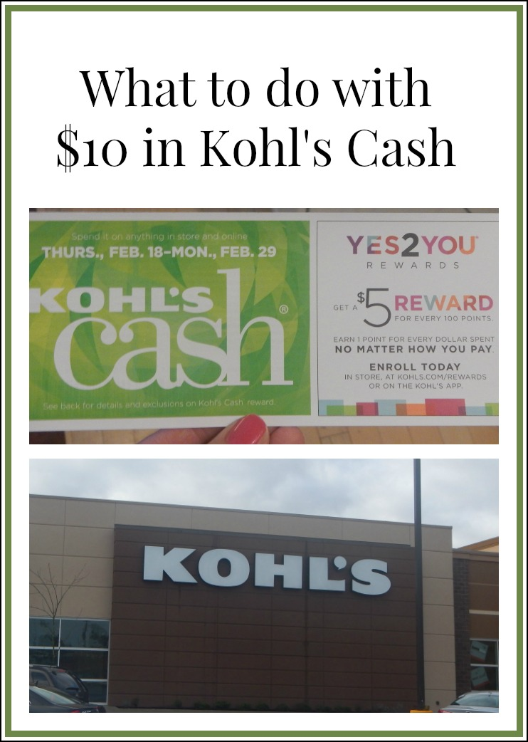 e84651c182e9 What to do with  10 Kohl s Cash  Tips and Ideas