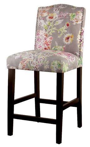 threshold camelot nailhead counter stool