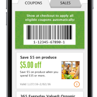 Whole Foods Market: $5/$15 Produce Coupon with App Download