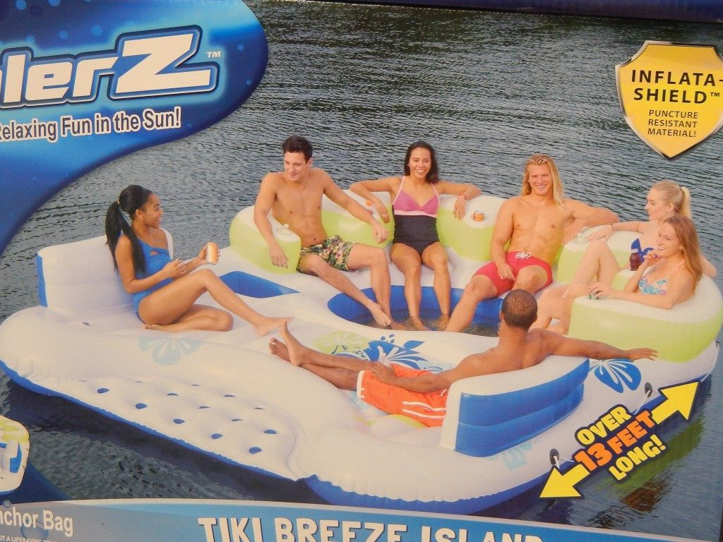 Inflatable Island at Costco