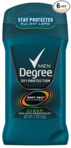 Degree Men Antiperspirant and Deodorant, Clean 2.7 oz (Pack of 6)