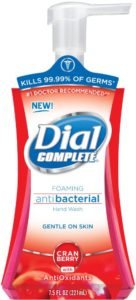 Dial Complete Foaming Antibacterial Hand Wash, Antioxidant Power Berries, 7.5 Ounce