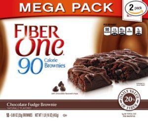 Fiber One 90 Calorie Soft-Baked Bars Chocolate Fudge Brownie, 36 Bars, (2x 18-Bar Mega Packs), 32 oz.