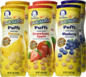 Gerber Graduates Puffs Cereal Snacks Variety Pack, 1.48 Ounce (Pack of 6)