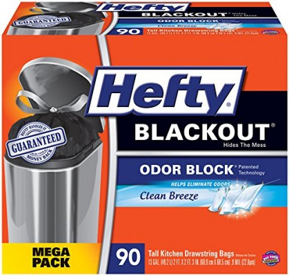 Hefty Blackout Tall Kitchen Trash Bags 90 Pack For Free Shipping