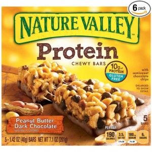Nature Valley Peanut Butter Dark Chocolate Protein Chewy Bars, 1.42oz.- 5 Count, Total 7.1 Ounce (Pack of 6)