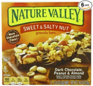 Nature Valley Sweet and Salty Dark Chocolate Peanut and Almond, 6-Count, 1.24-Ounce Bars (Pack of 6)