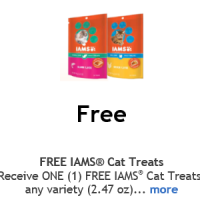 Free IAMS Cat Treats