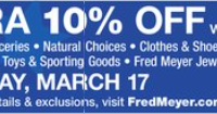 Military Discount Day at Fred Meyer, March 17