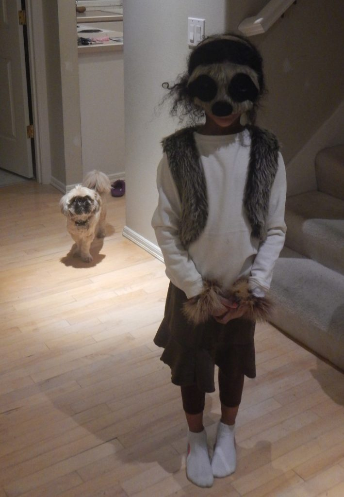 Daughter in Sloth Costume