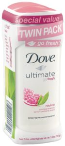 Dove go fresh Anti-Perspirant Deodorant, Revive 2.6 oz, Twin Pack