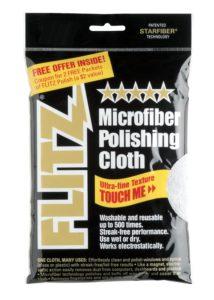 Flitz MC200 Thick n Thirsty 16 x 16 Silver Microfiber Polishing Cloth
