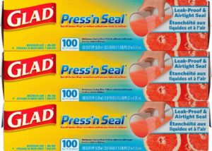 Glad Press'n Seal Wrap, Three 100 Square Foot Rolls