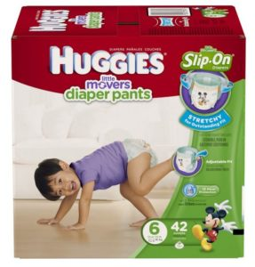 HUGGIES Little Movers Diaper Pants, Size 6, 42 Count