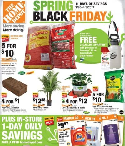 Home Depot Spring Black Friday HOT Deals On Mulch Garden Soil