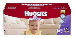 Huggies Little Movers Diapers, Size 3, 174 Count