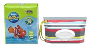Huggies Little Swimmers Wipes Bundle, Unisex, Small, 20 Count Swim Pants and 32 Count Wipes