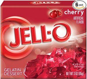 Jell-O Gelatin Dessert, Cherry, 3-Ounce Boxes (Pack of 6)