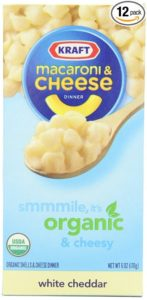 Kraft Organic Macaroni & Cheese Dinner, White Cheddar, 6-Ounce Boxes (Pack of 12)