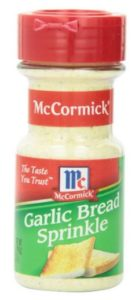 McCormick Garlic Bread Sprinkle, 2.75 Ounce Unit