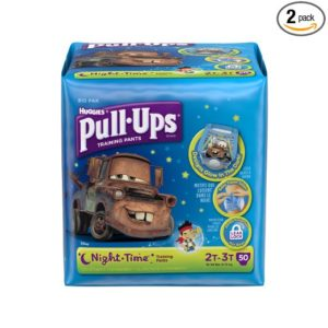 Pull-Ups Training Pants Night Time for Boys,Size 2T-3T, 50 Count (Pack of 2)