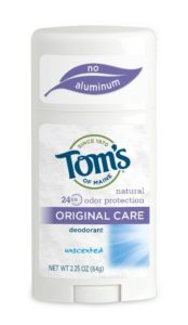 Tom's of Maine Natural Original Care Deodorant Stick, Unscented, 2.25 Ounce (Pack of 6)