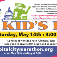 Free Capital City Kids' Run and Marathon Option (Olympia) – May 14th