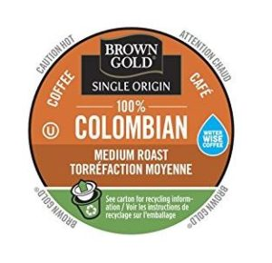 Brown Gold, 100 Colombian Coffee, 48 Single Serve RealCups