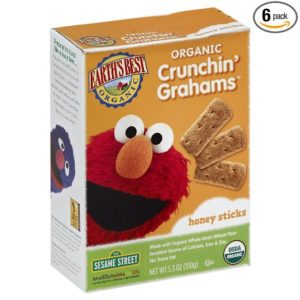 Earth's Best Organic Crunchin' Grahams, Honey, 5.3 Ounce (Pack of 6)