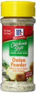 McCormick California Style Coarse Grind Blend Onion Powder, White and Green Onions with Parsley, 2.62 Ounce Unit