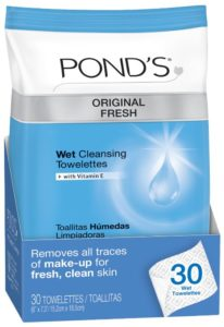POND'S Original Fresh Wet Cleansing Towelettes, 30-Count (Pack of 4)