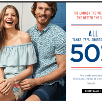 50% off Tees, Tanks & Shorts at Old Navy