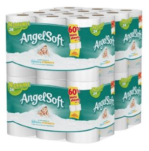 Angel Soft Bath Tissue, 48 Double Rolls Toilet Paper, 12 Count (Pack of 4)