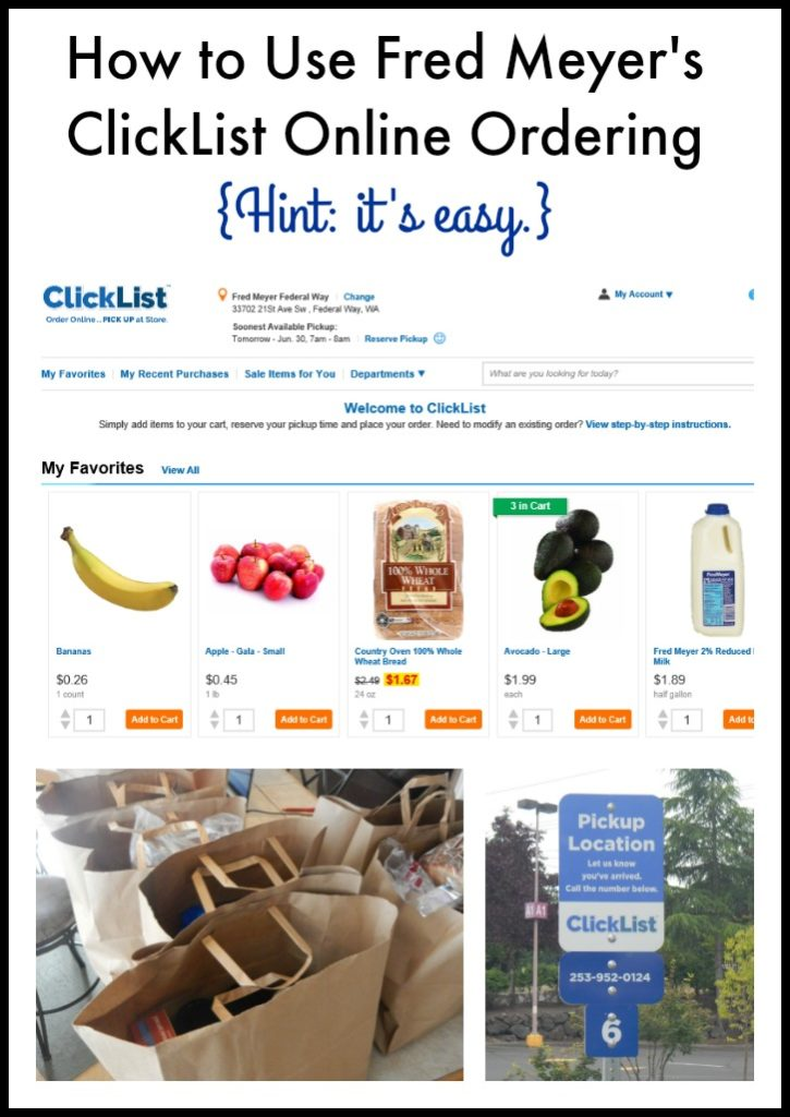 How to Use Fred Meyer's ClickList Online Ordering: Easy. Convenient. Simple