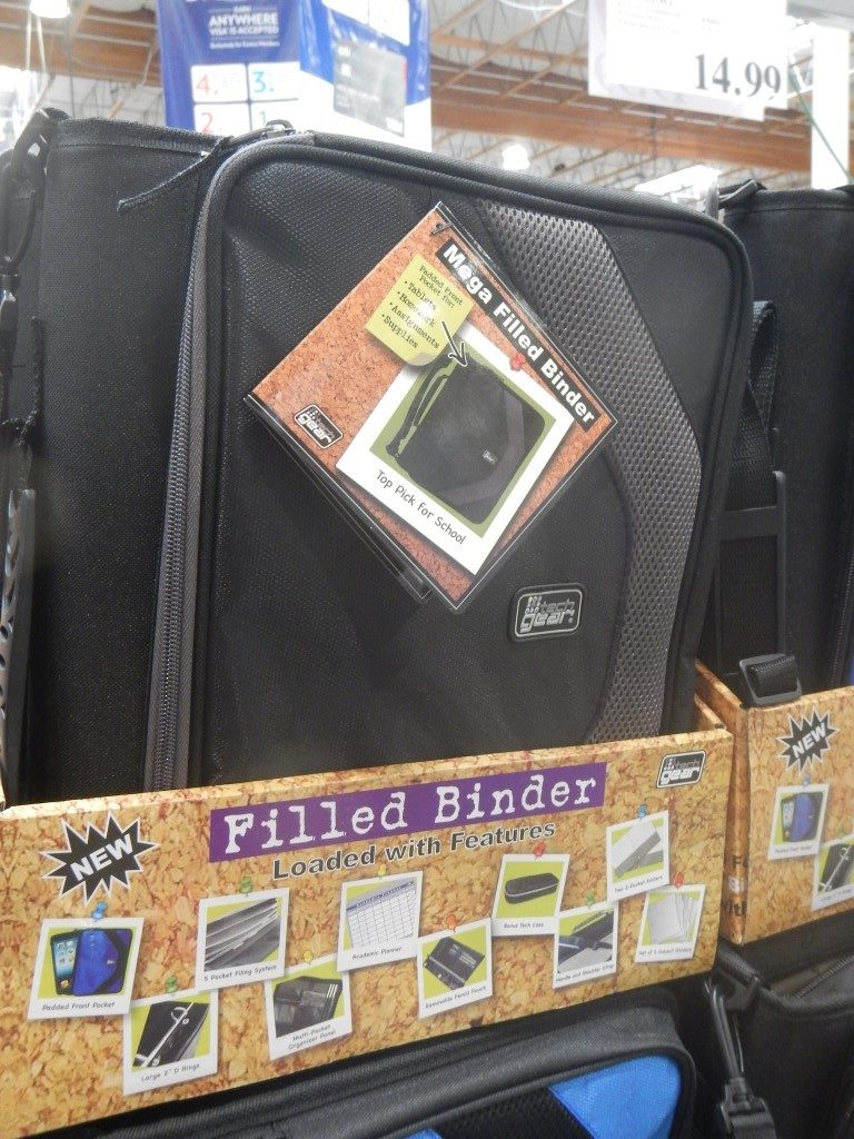 Filled Binder at Costco