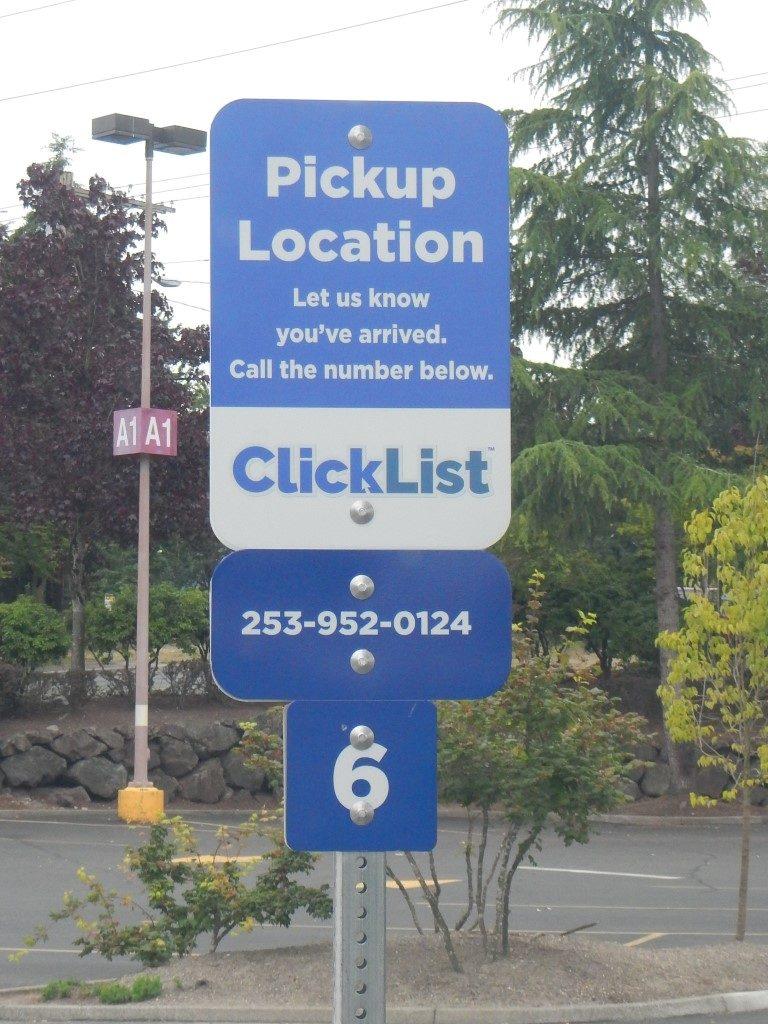 Clicklist Curbside Pickup Location