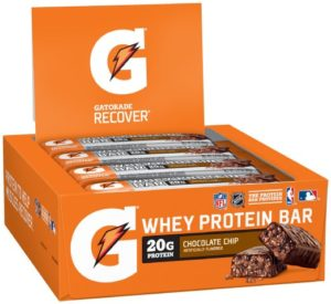 Gatorade Whey Protein Recover Bars, Chocolate Chip 2.8 ounce bars (12 Count)